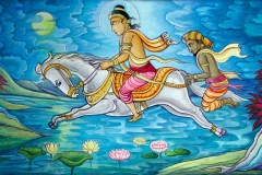 MV-Jayasiri-murals: Crossing River Anoma